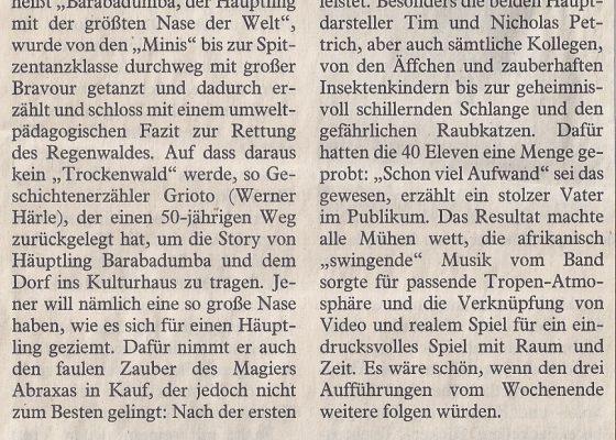 Augsburger Allgemeine, 5. Februar 2009